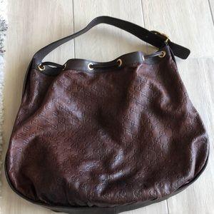 Gucci Bags - Gucci brown leather handbag